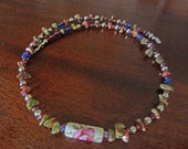 Devotion and Protection Beaded Necklace Garnet and Unakite - reserved