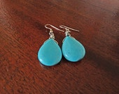 Turquoise Meditation Earrings - reserved