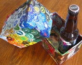 Beer Bottle Cap Box / Cap Collector / Pencil Holder / Desk Organizer