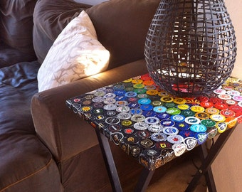 Bottle Cap Spectrum Folding Table