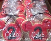 Mickey Mouse Inspired Custom Sugar Cookie Favors (One Dozen)