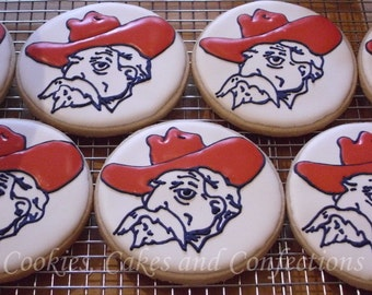 Ole Miss Colonel Reb Sugar Cookie Favors (One Dozen)