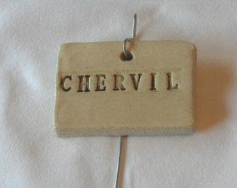 Chervil Plant Marker