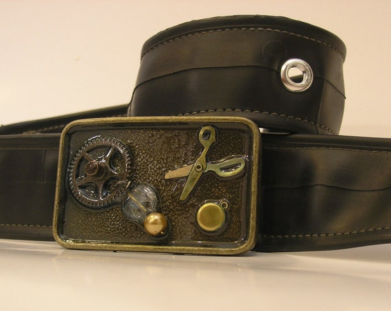 Steampunk One of a Kind Belt Buckle - Ready to Ship
