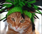 Cat Dreadlocks in Poison Green and Aubergine