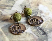 Fanciful tree earrings