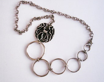Silver Circles ring and Chain Necklace