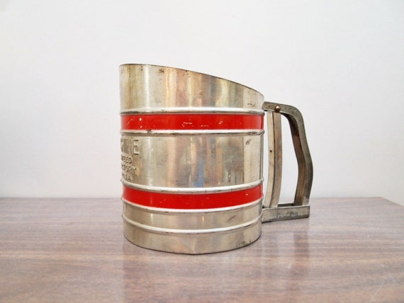 vintage Flour Sifter by Soft-Chine, shabby chic