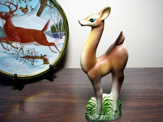 vintage Deer figurine, blue-eyed doe