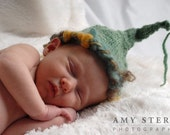 Sage Green Gnome Hat with colorful boarder Custom and Handmade for You