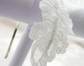 Vintage Lace Headband Bridal Headpiece, Alencon White or ivory Vitnage Lace, Sliver headband, Gold Headband