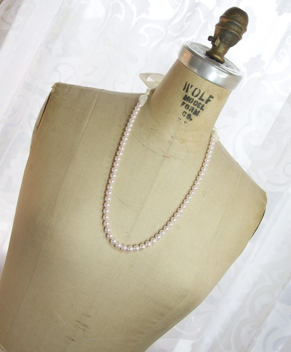 Pearls and ribbon tie necklaces 7 long length bridesmaids for Ribbon tie necklace jewelry