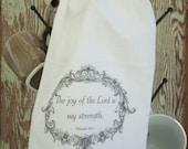 Shabby Chic French Spiritual Flour Sack Towel