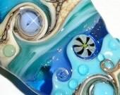 "Dreamscape..... An ORIGINAL ""Sea Bead"" by Beatlebaby Glassworks...Handmade Lampwork Glass Organic Focal"