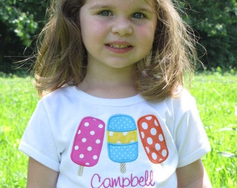 Personalized Bright Polka Dot Popsicle Shirt Fitted Short Sleeve