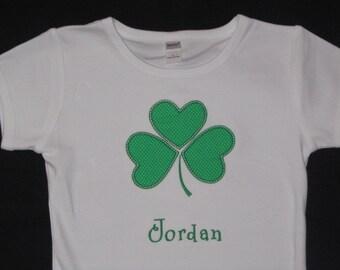 Personalized Initial St. Patrick's Day Shamrock Shirt