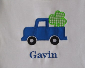 Personalized St. Patrick's Day Truck with Shamrock Shirt