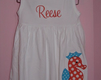 Personalized Seahorse Dress