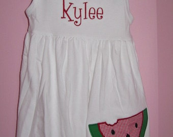 Personalized Watermelon Dress