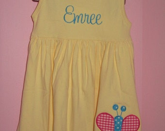 Personalized Butterfly Dress