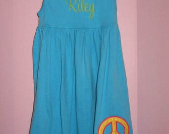 Personalized Peace Sign Dress
