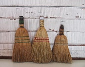 three vintage whisk brooms - instant collection