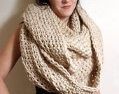 HOLIDAY SALE - The Hudson Circle Scarf in Oatmeal