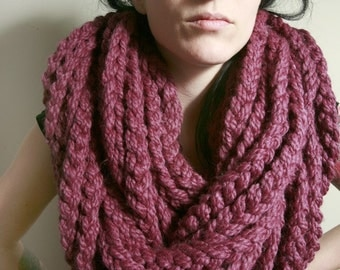 The Tivoli Rope Infinity Scarf in Fig