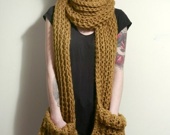 The Tarrytown Pocket Super Scarf in Mustard