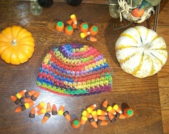 Hand Crocheted Baby Beanie For Fall