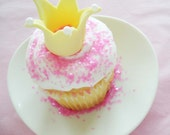3D Princess Crown Cupcake Topper for Birthdays, Showers and Other Events