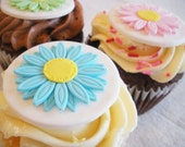 Fondant Cupcake Topper--Spring Gerbera Daisy