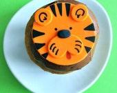 Tiger Fondant Cupcake Topper for Safari or Jungle Theme Party