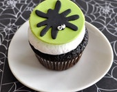 Spooky Spider Fondant Cupcake Topper for Halloween Parties and Other Events