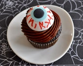 3D Eye Fondant Cupcake Toppers for Halloween Parties and Other Events