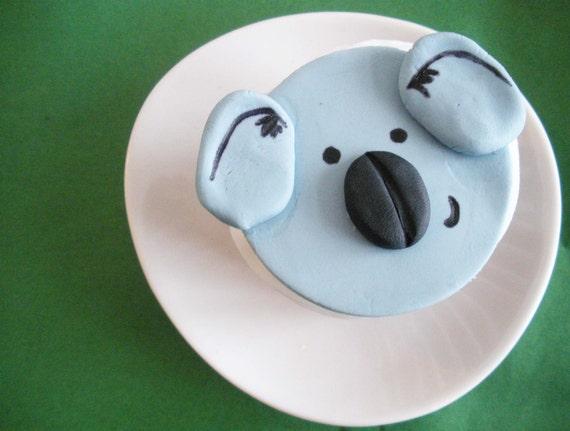 Cupcakes de Koala Koala Fondant Cupcake Topper