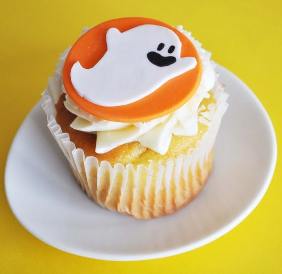 Ghost Fondant Cupcake Topper for Halloween Parties and Other Events