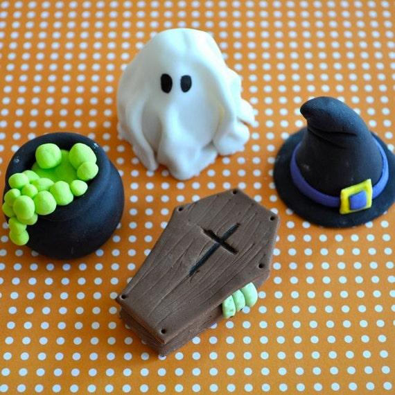 Halloween Cupcake Toppers Fondant Fondant Cupcake Toppers