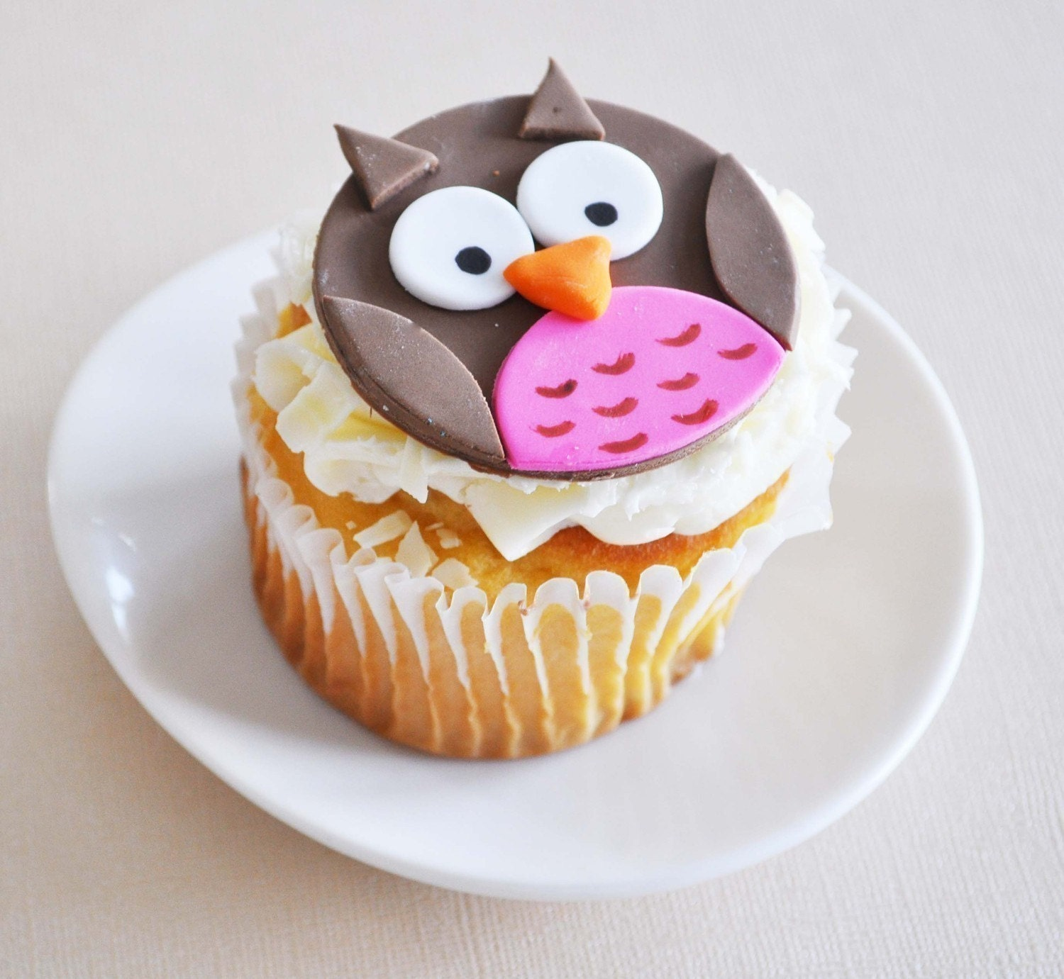 Owl Cupcakes For Baby Shower: Owl Fondant Cupcake Toppers For Birthday Parties Baby Showers