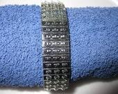 Pkg 3 - 7 Inch Triple Row Steel Stretch Cha Cha Bracelet
