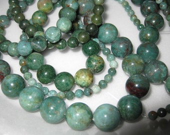 12mm African Jade Round Beads - 16 inch strand