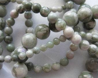6mm Peace Jade Round Beads - 16 inch strand