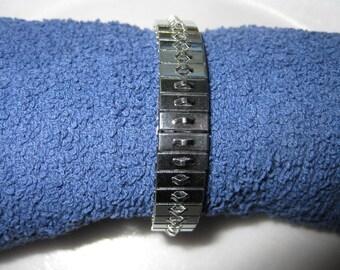Pkg 3 - 7 Inch Single Row Steel Stretch Cha Cha Bracelet