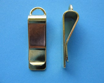 Pkg of 3 - Gold Plated Clip-Style Bookmarks -  30mm x 10mm