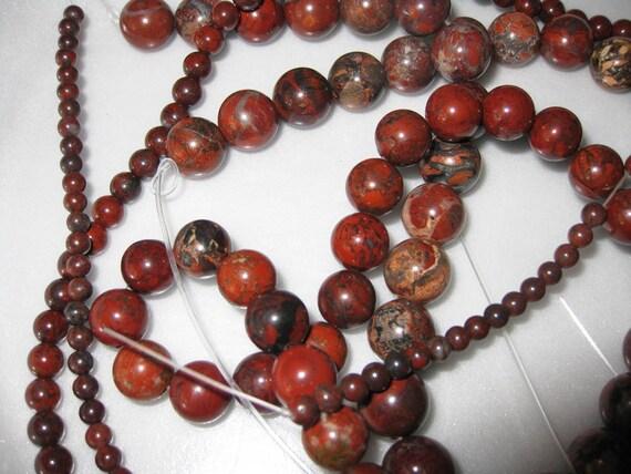4mm Poppy Jasper Round Beads - 16 inch strand