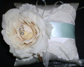 Silk Ivory Ring Bearer Pillow - French Bouquet