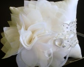 Silk Dupioni Ring Bearer Pillow - Fleur de Claire