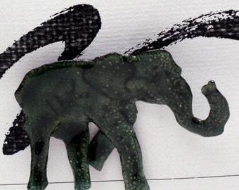 Elephant Enameled Critter Pin