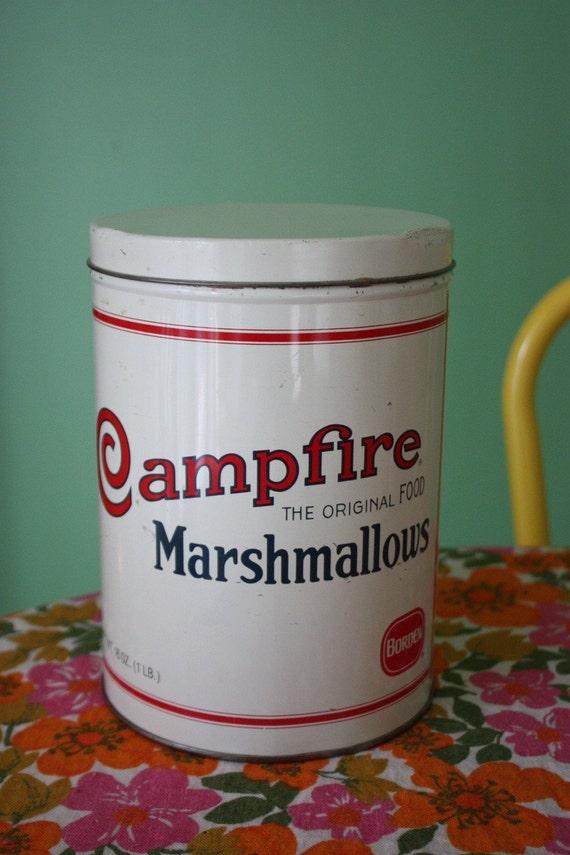 Vintage Campfire Marshmallow Tin SALE