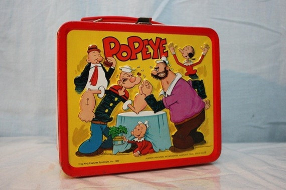 Popeye Aladdin Metal Lunchbox 1980 SALE